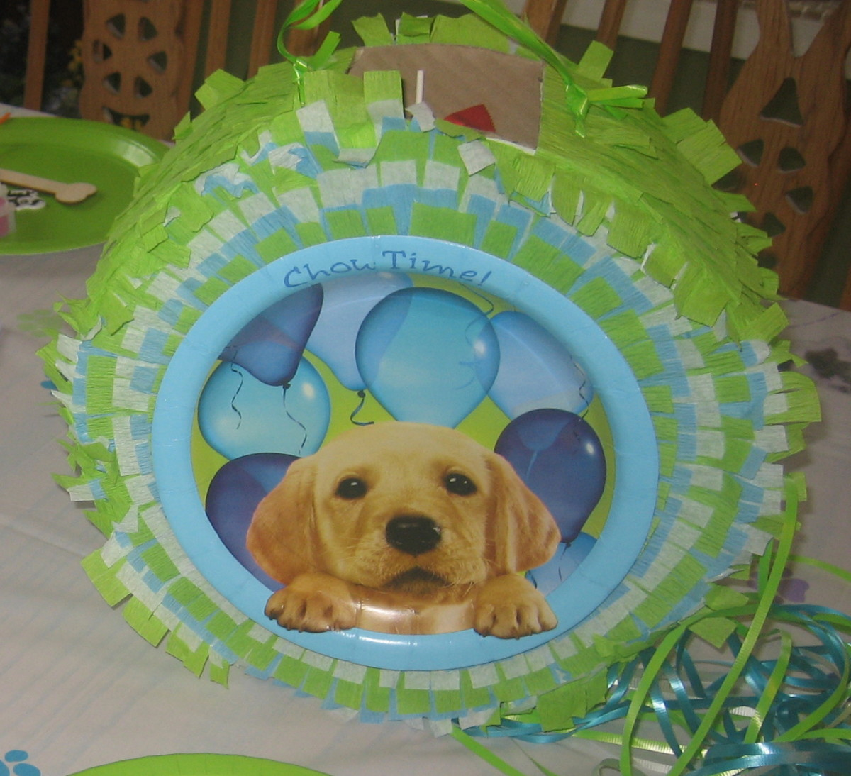 Our puppy party birthday pinata