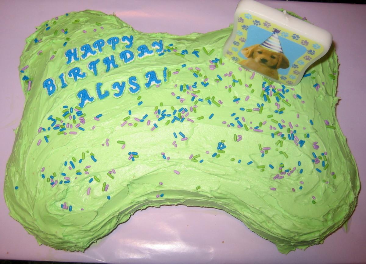Dog Bone Birthday Cake