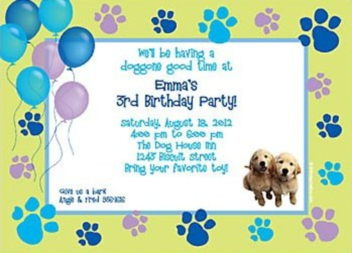 Puppy Dog Party Invitations