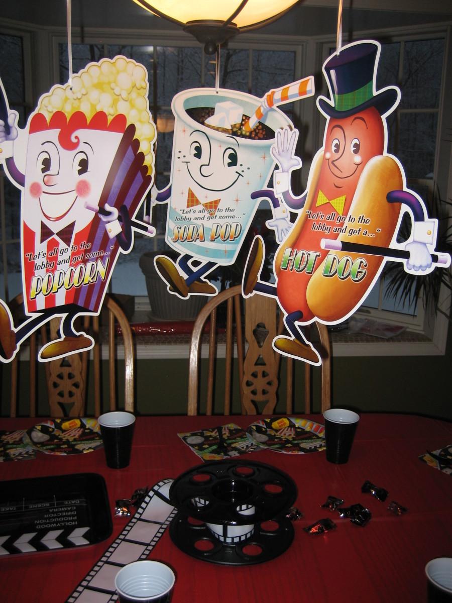 Dancing Snacks Cutout Decorations