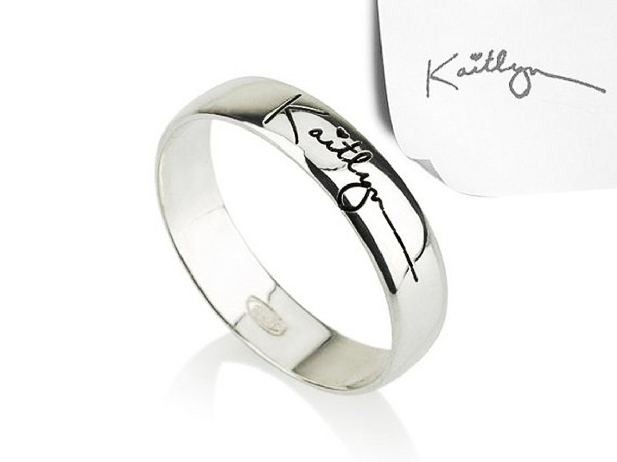 One-of-a-kind Mother's Day jewelry that features your own handwriting.