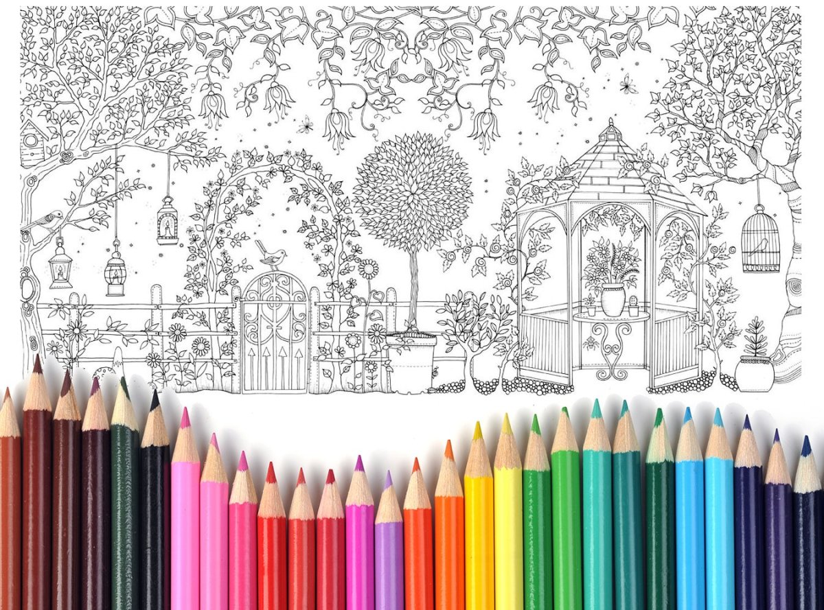 Coloring books for adults can help busy moms to de-stress.