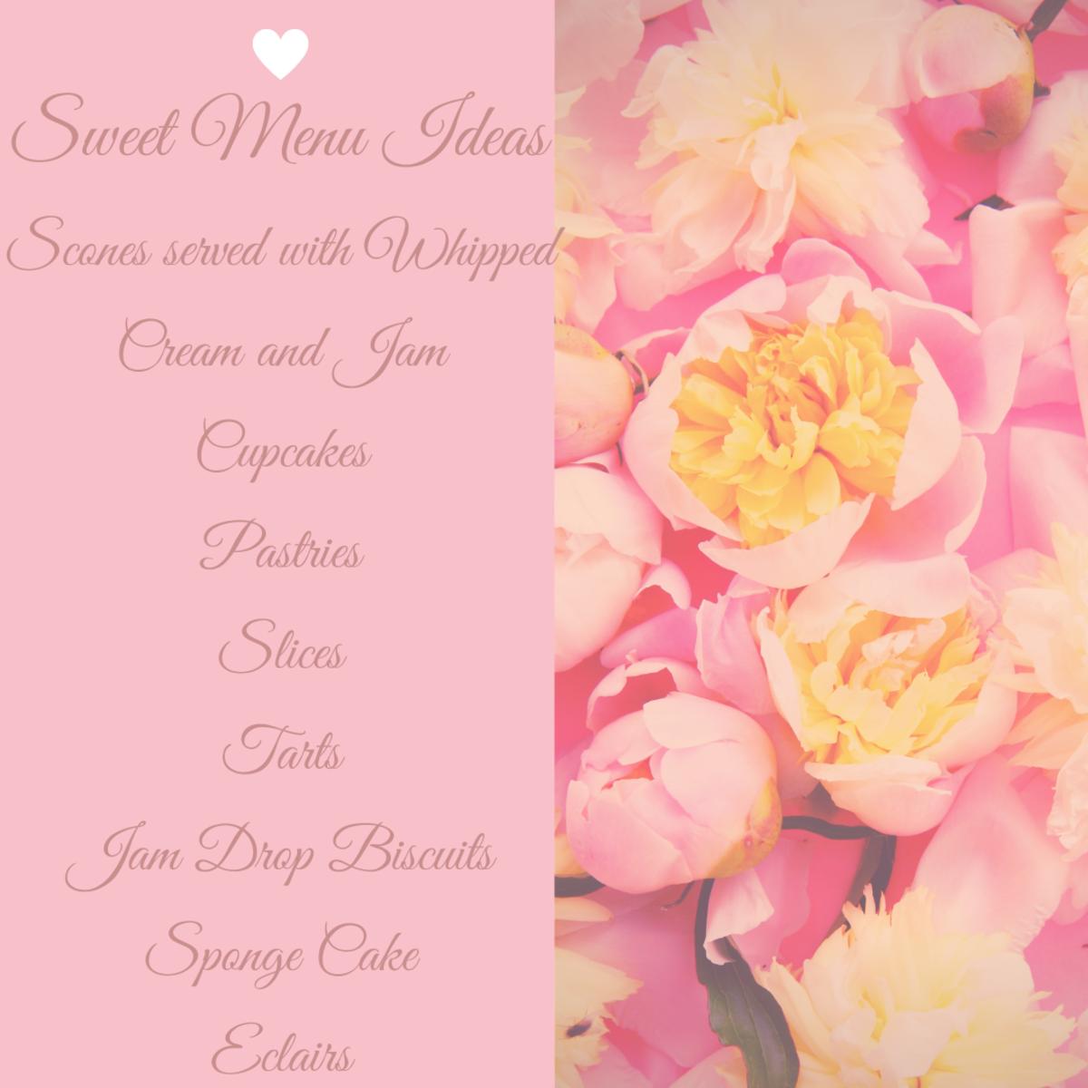 Sweet Menu Ideas