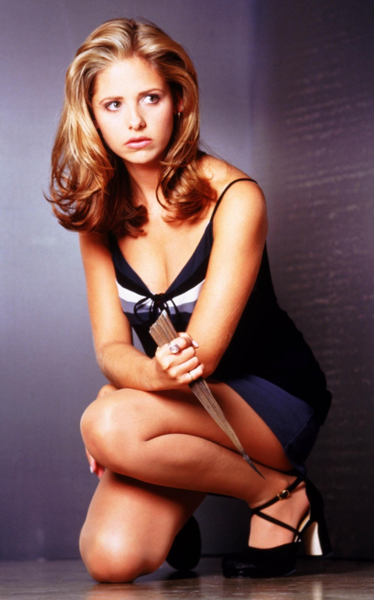 Sarah Michelle Gellar as Buffy in the late 1990s/early 2000s
