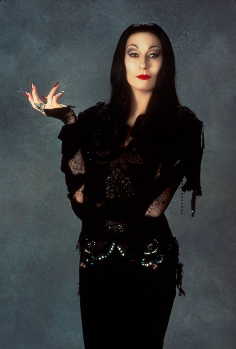 Anjelica Huston as Morticia in 1997