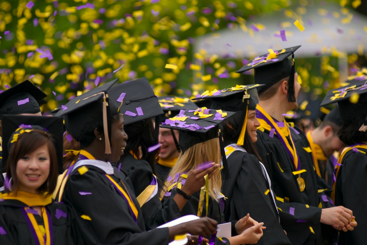 A graduation marks the end of an individual's rigorous education. That means no more homework!