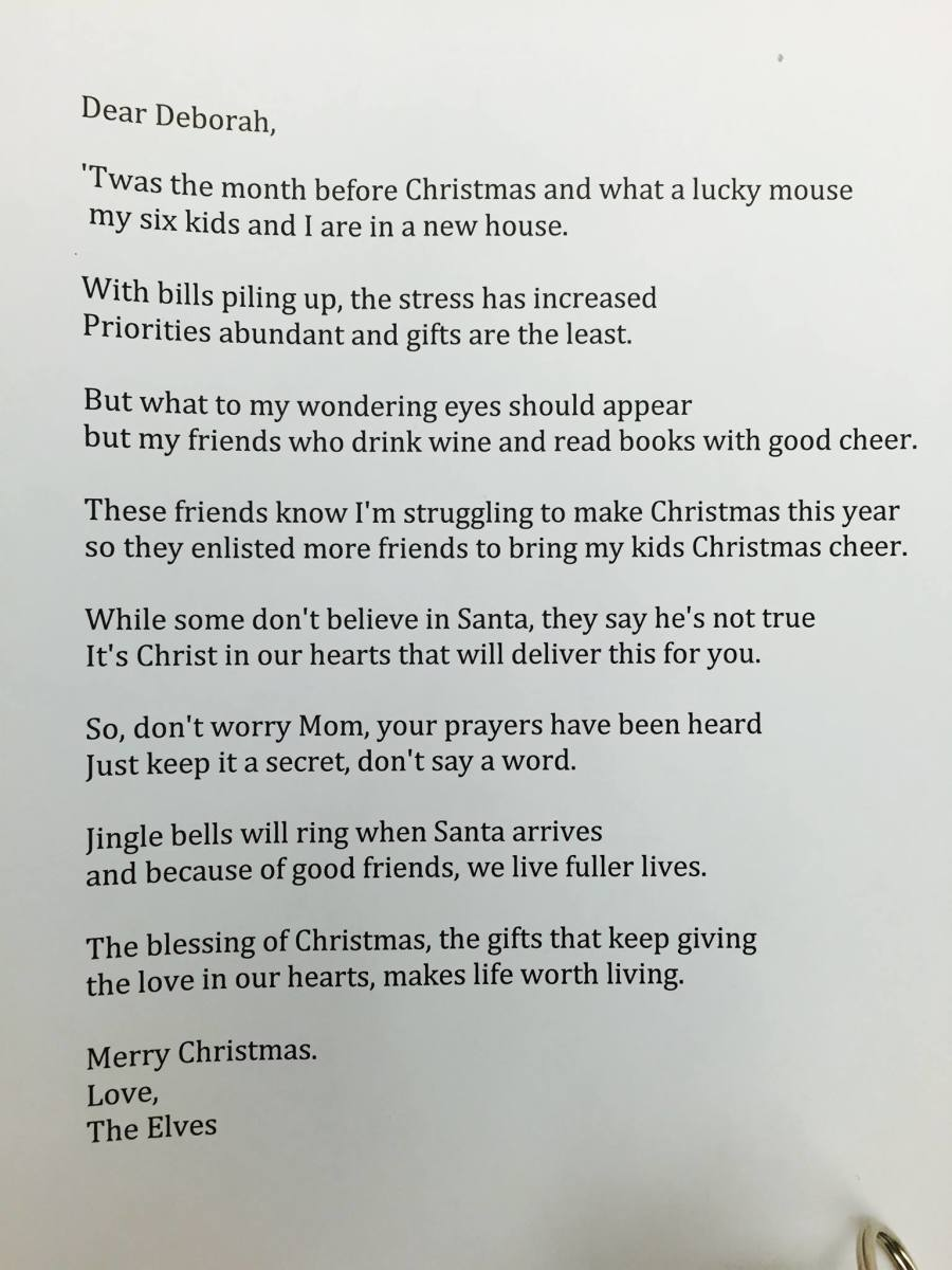 The Christmas letter that changed my life.