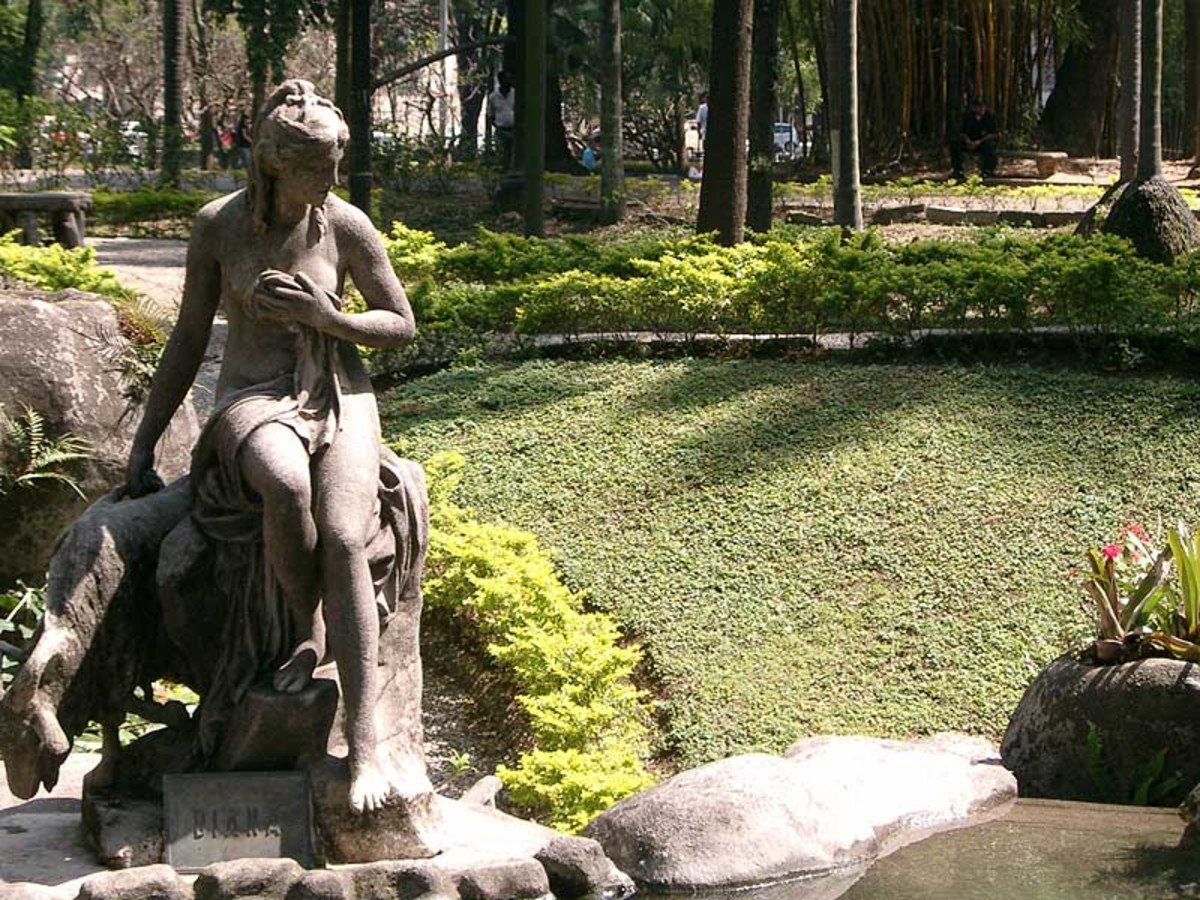 Modern Statue of Diana, Goddess of the Hunt, honored during Roman Nemoralia holidays