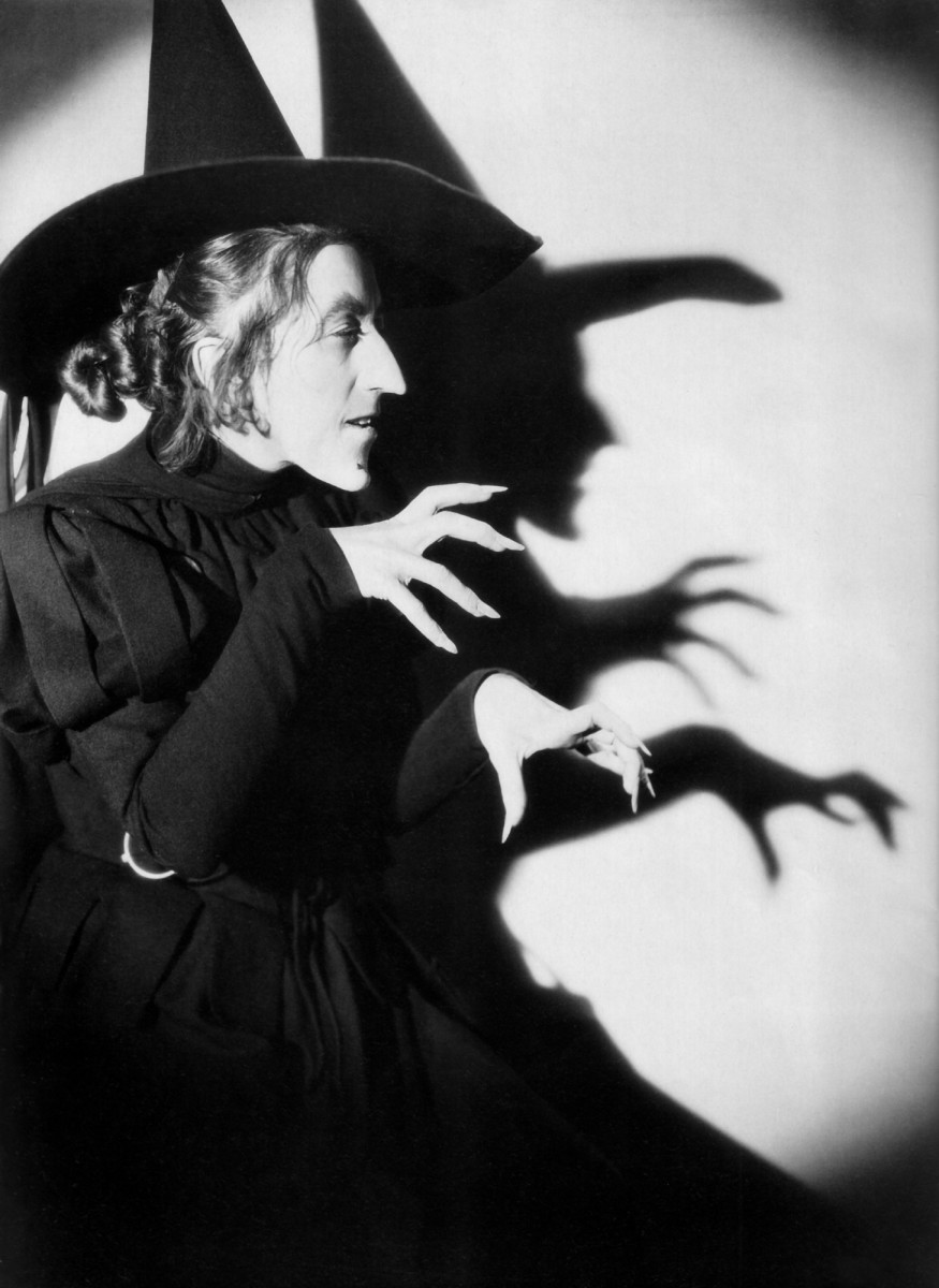 Margaret Hamilton as the Wicked Witch in 1939