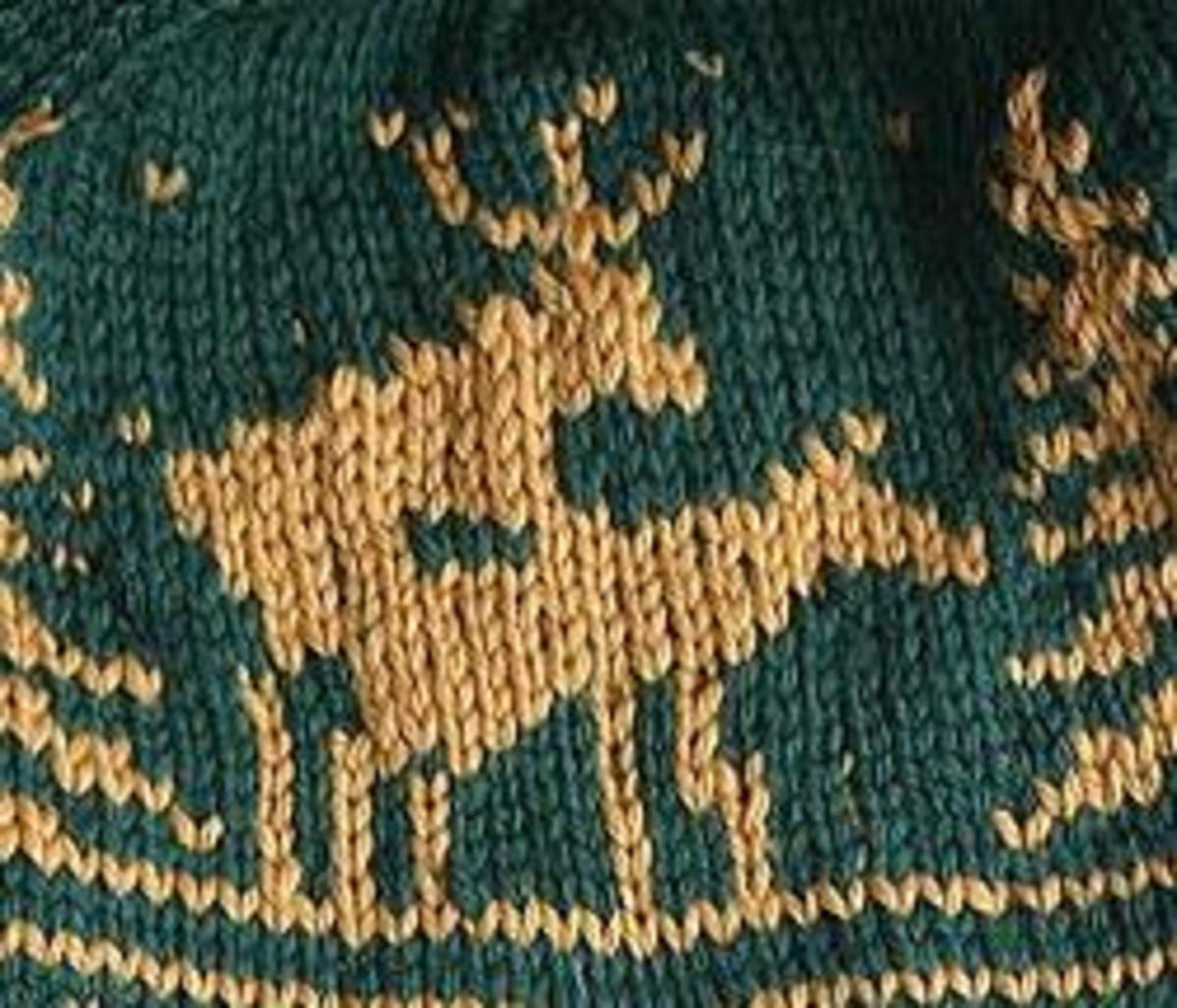 Our winner had this exact pattern on their sweater, except that both deer had horns...