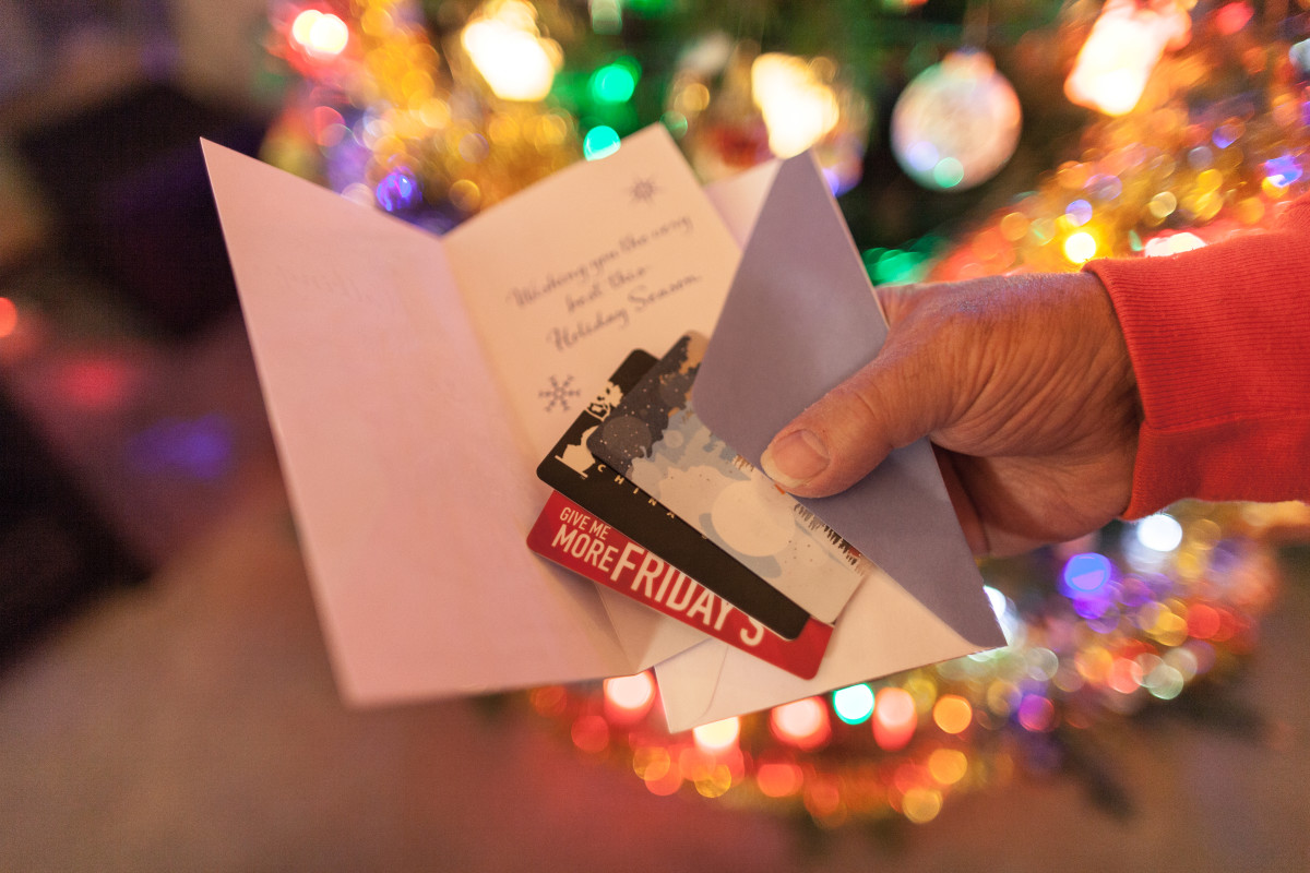 Giftcards to a favorite restaurant or store are always a great gift.