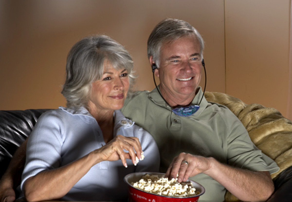 TV Listening Headsets Wirelessly Enhance The Sound From Your So Seniors Can Hear It