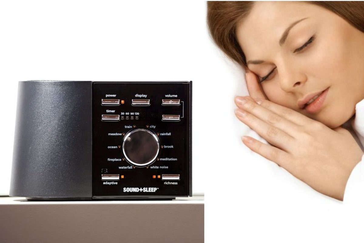 Sleep sound machines play calming sounds that help elderly people with sleep issues fall asleep faster.