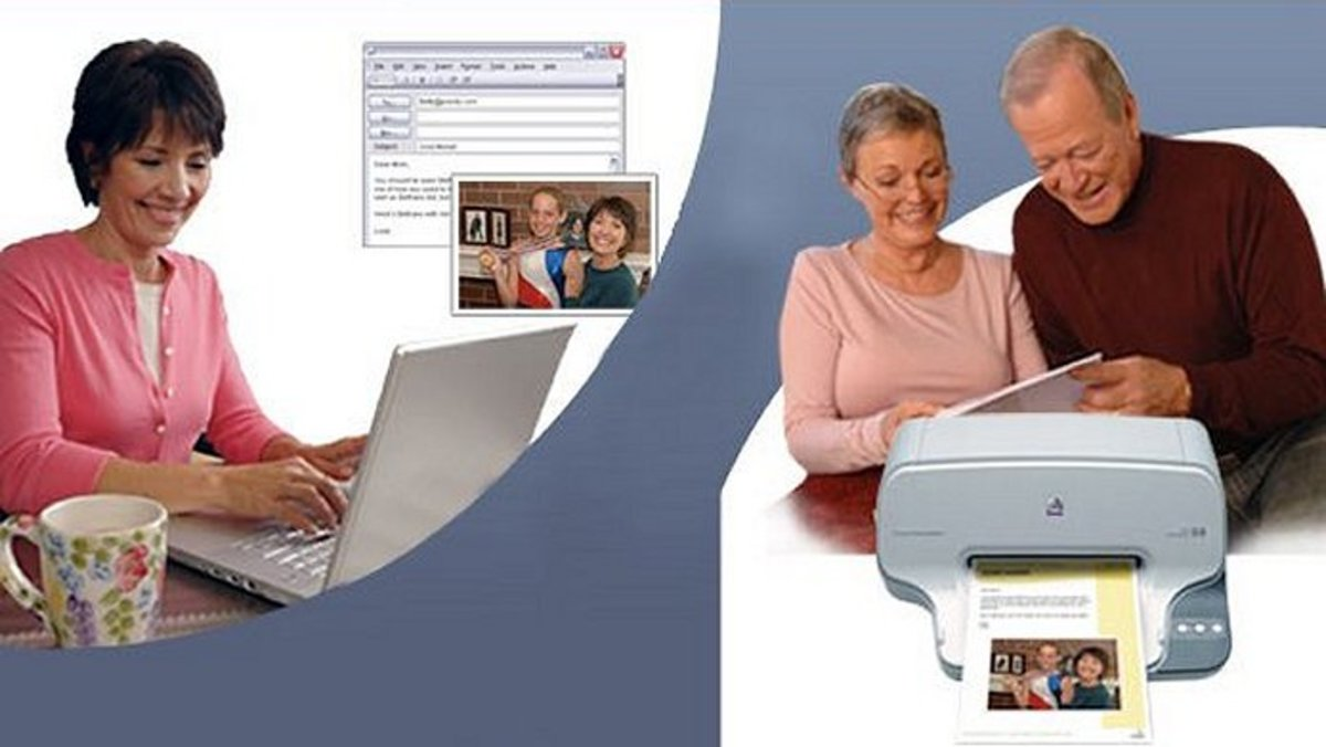 Older people can receive e-mails and photos  from family and friends without using a computer.