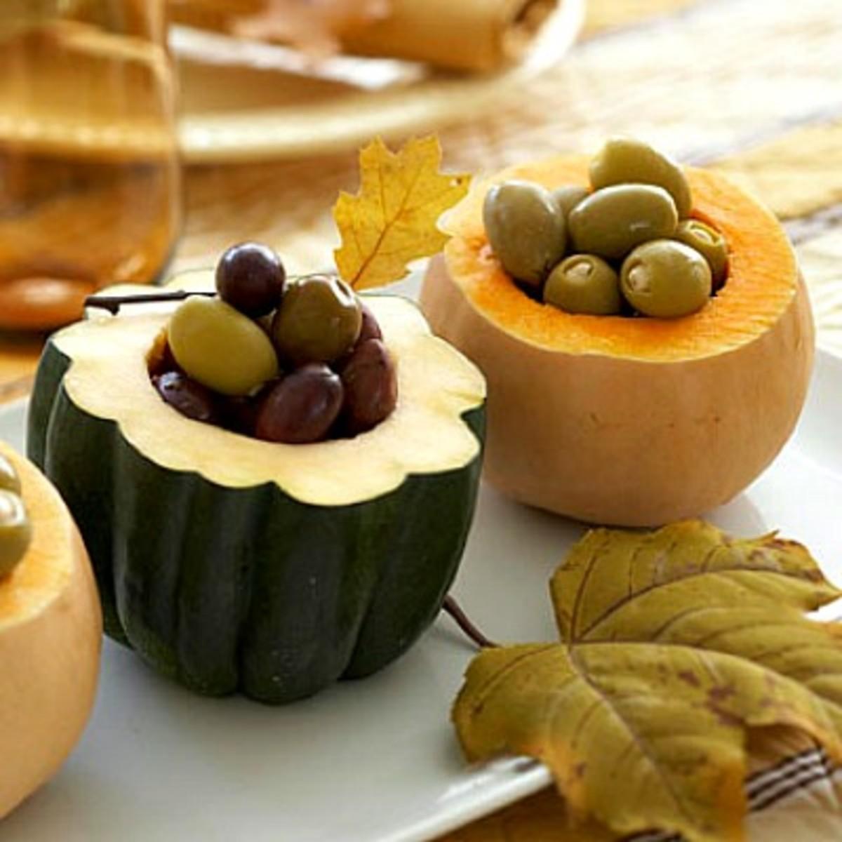 Pumpkin Shell Condiment Bowls