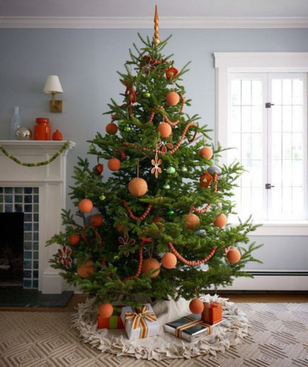 Orange Christmas Tree Theme