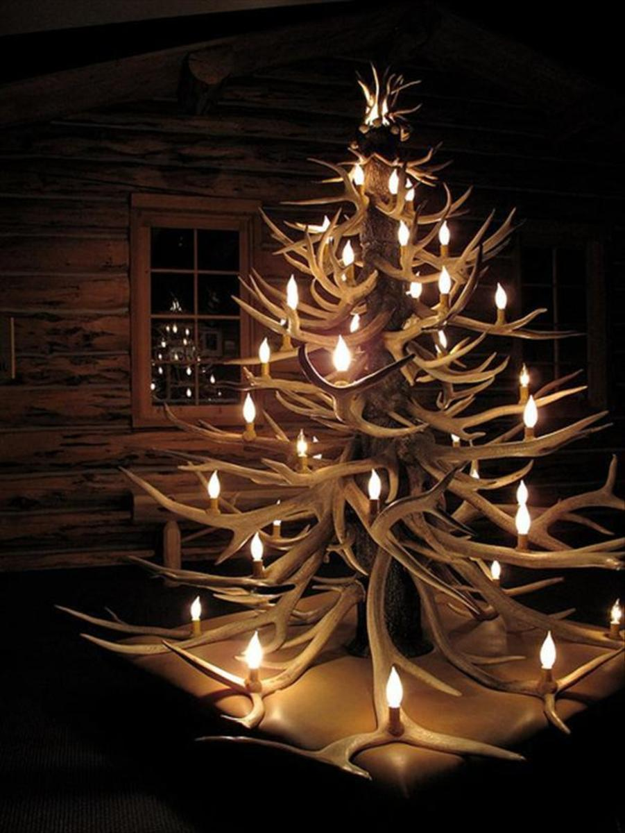 Antler Christmas Tree - Unique and Modern