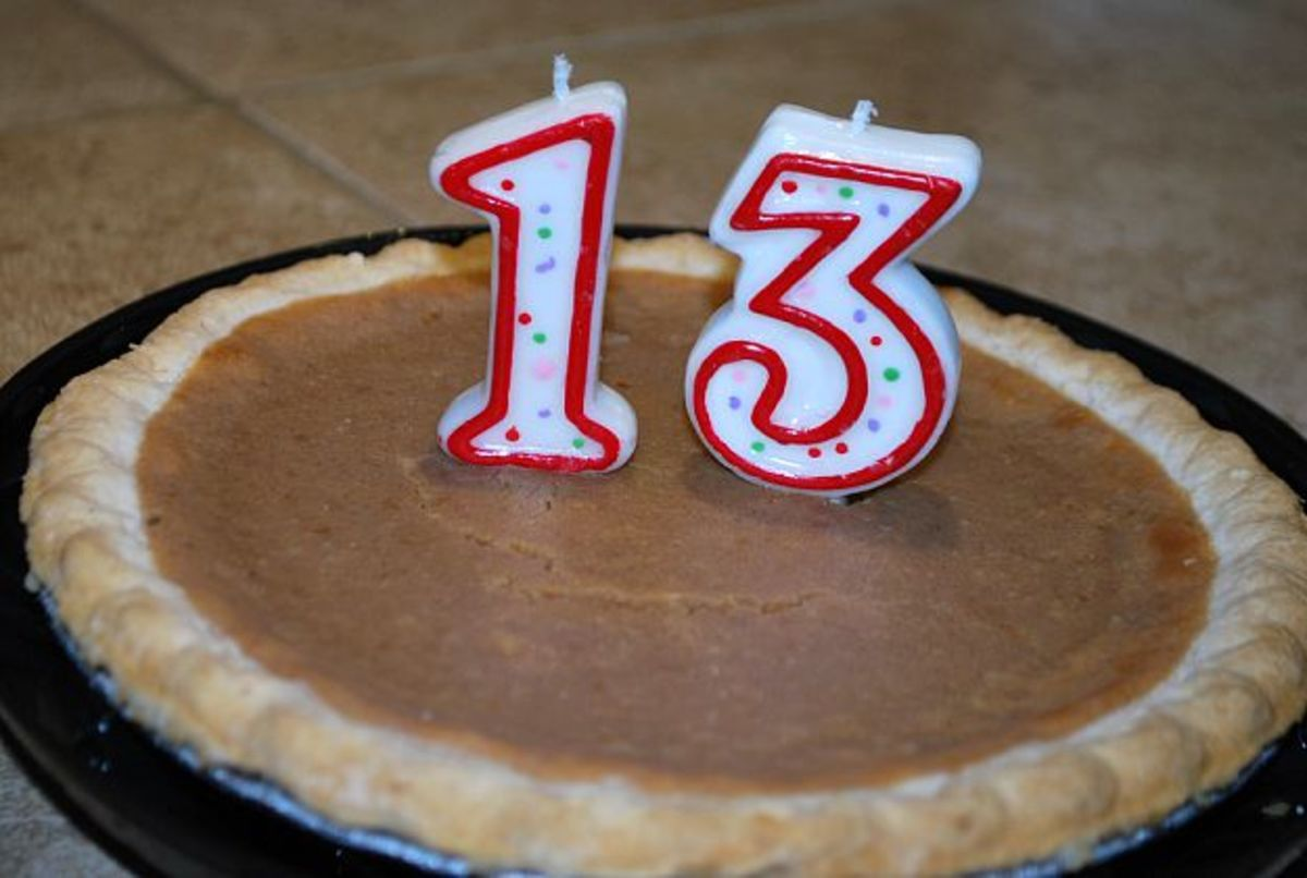 My 13-year old chose pumpkin pie instead of cake for his birthday celebration