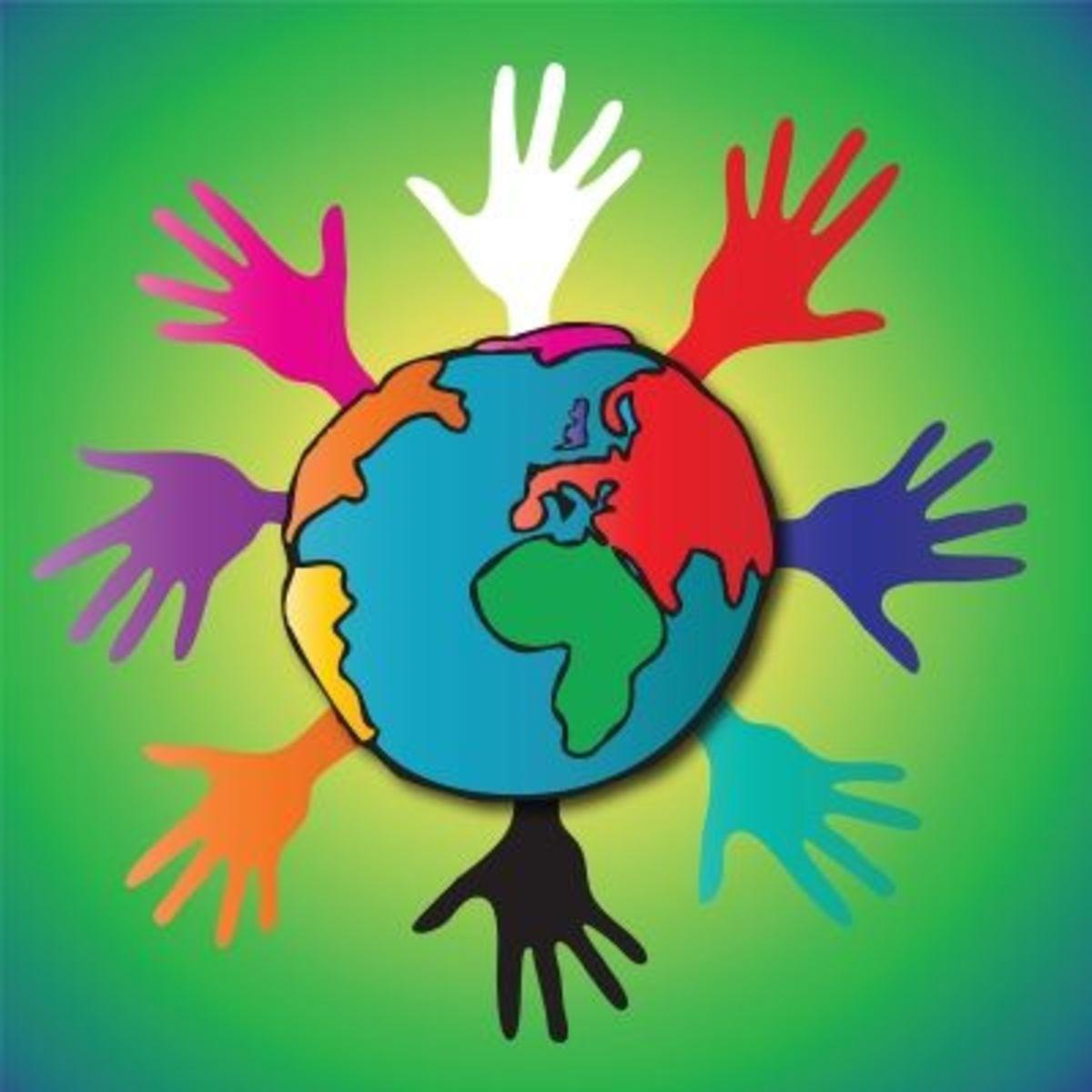Hands around the world united in prayer
