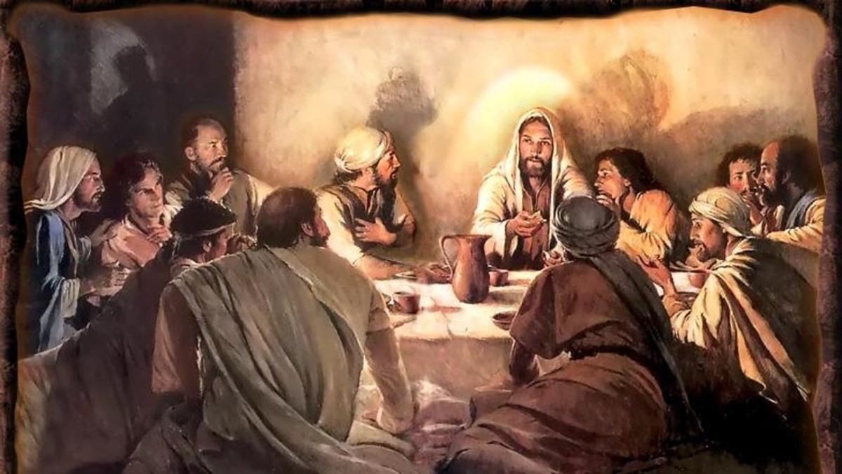 The day before His crucifixion, Jesus shared a Passover supper with his disciples.