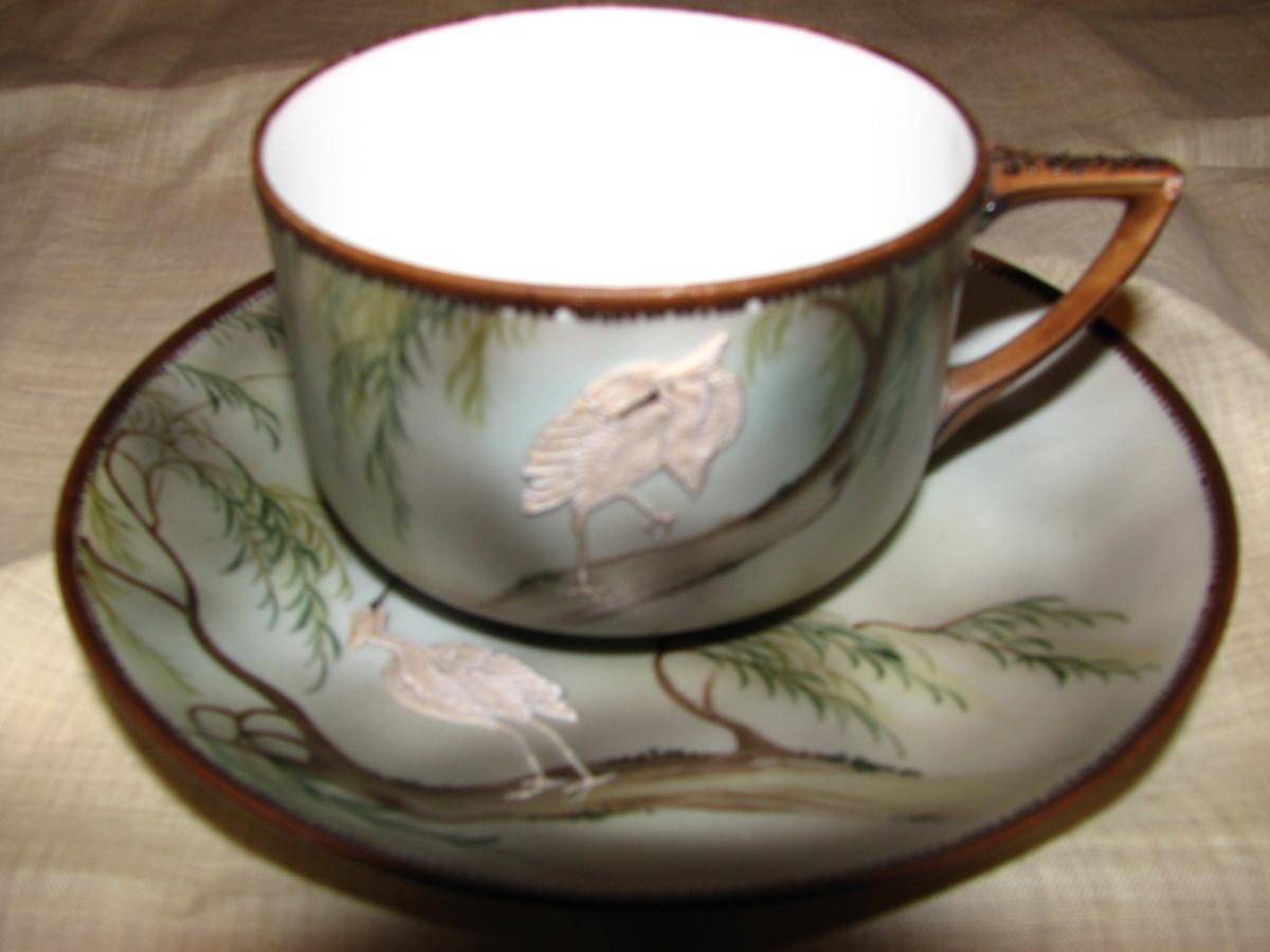 Crane teacup by Nippon