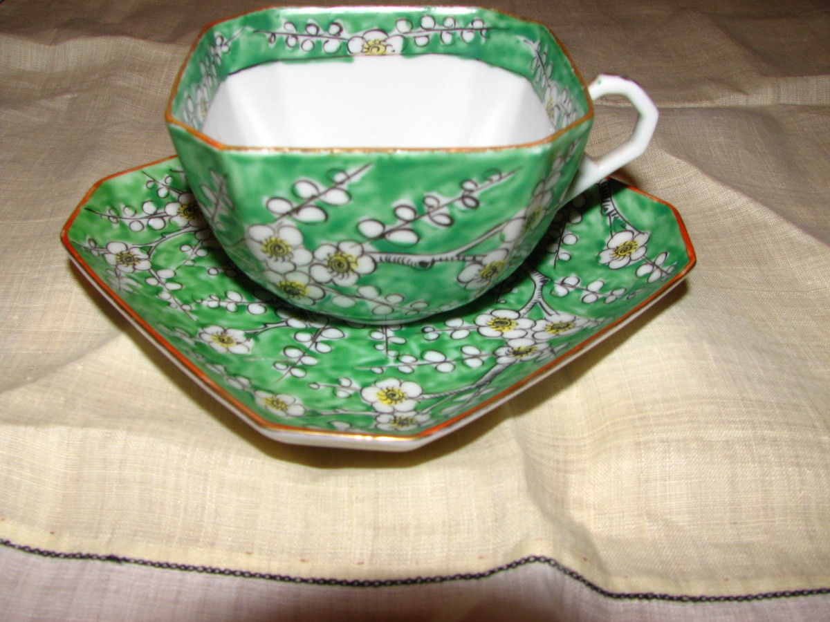 Cherry Blossom teacup by Unknown maker