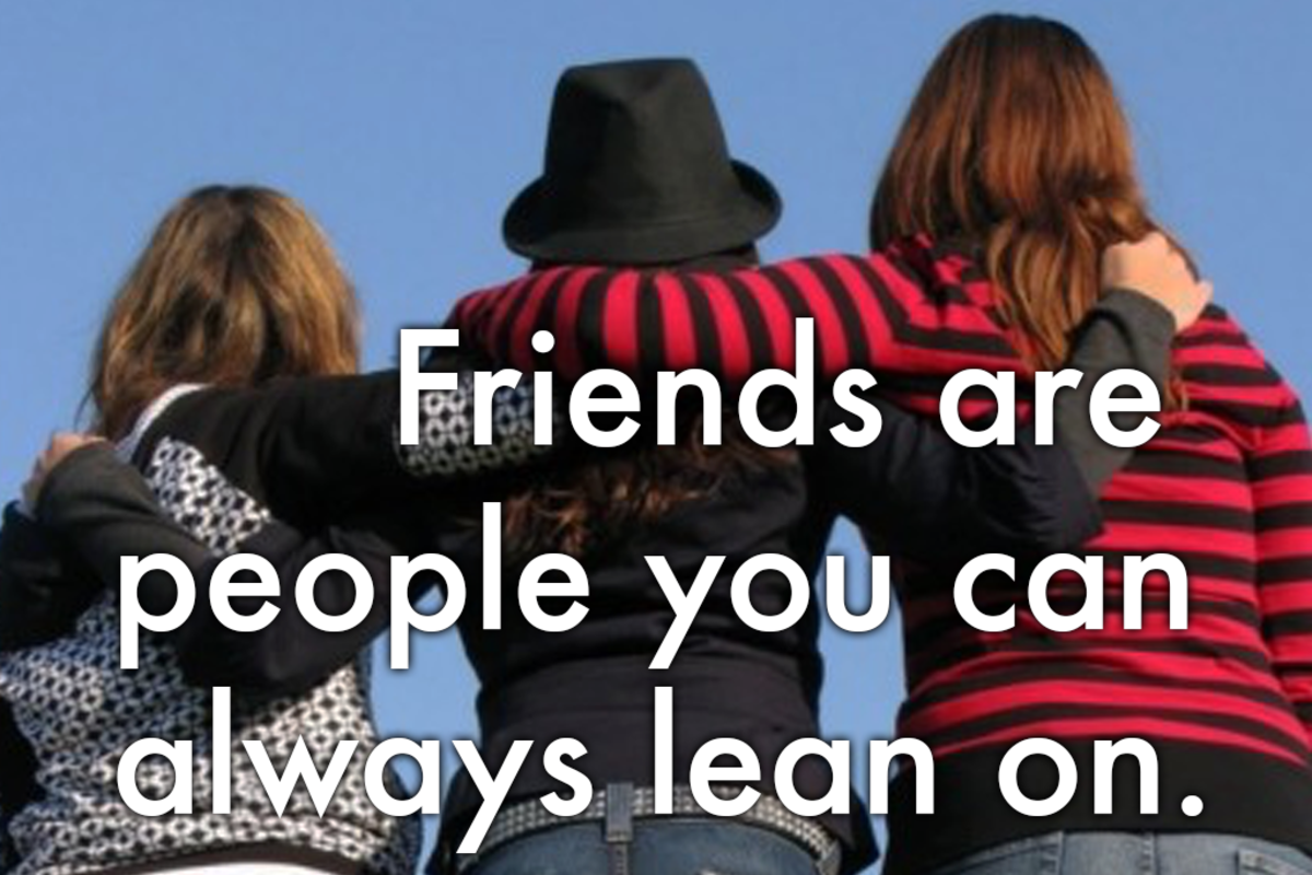 Best friends message: 'Friends are people you can always lean on.'