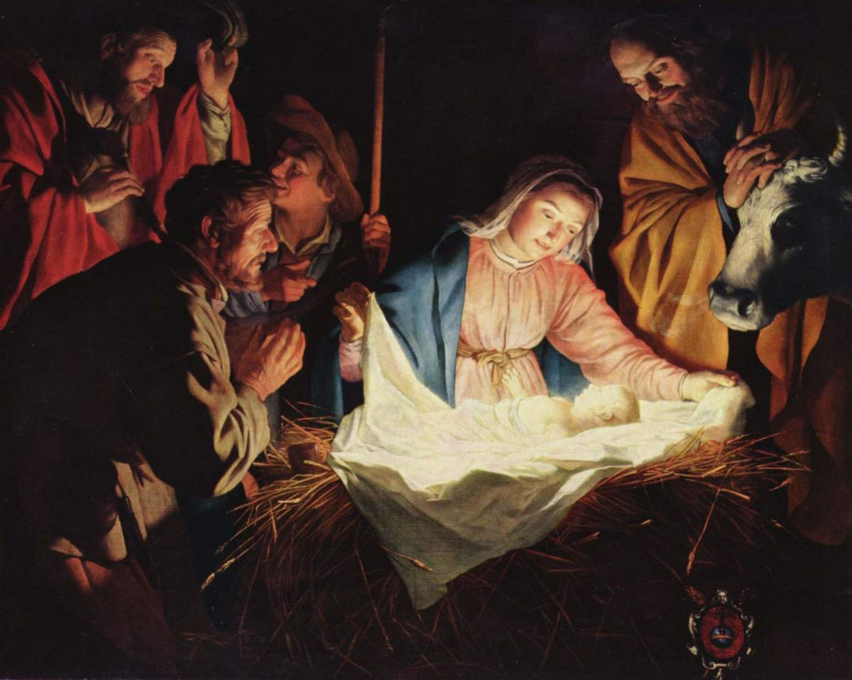The adoration of the shepherds, 1622.  What the first Christmas was about.