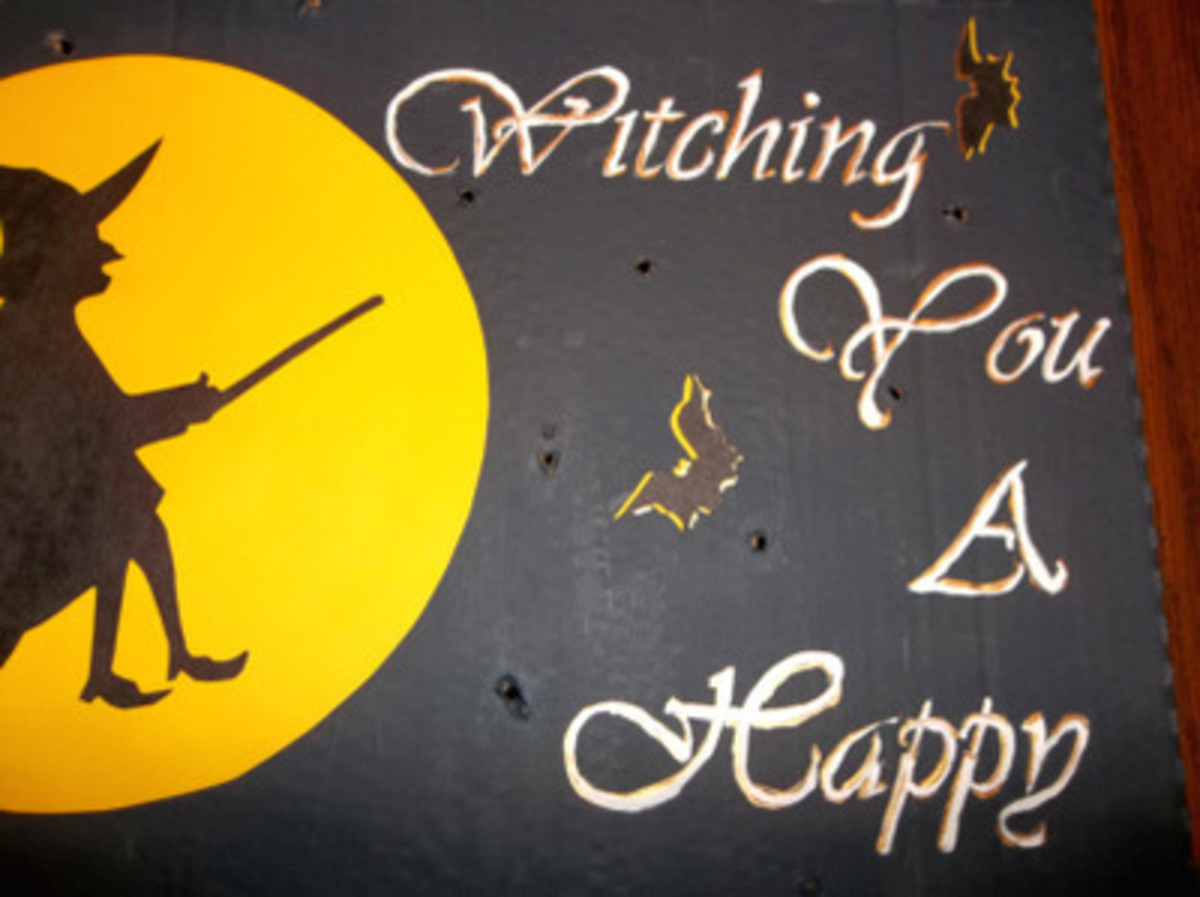 Adding yellow or gold shadow to your lettering helps it stand out.