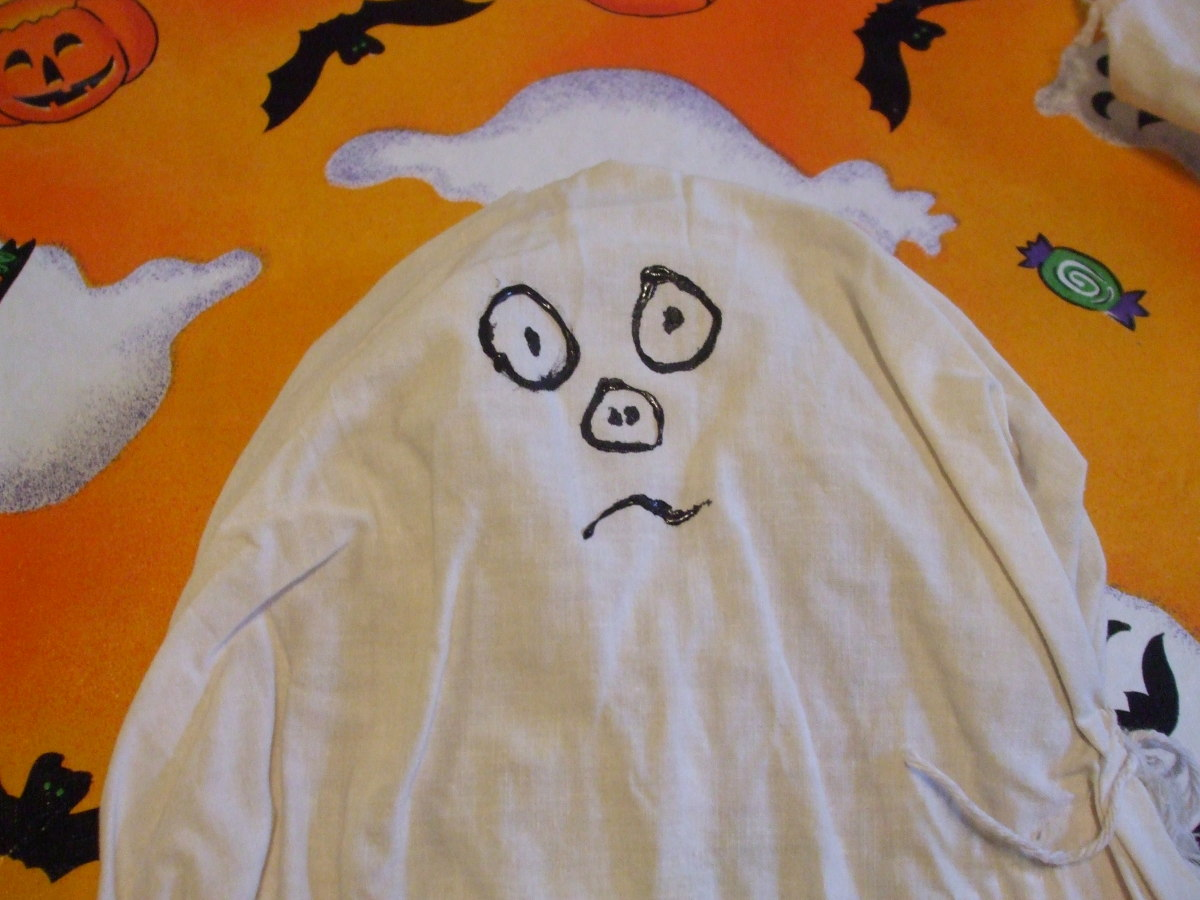 This Halloween ghost looks puzzled.