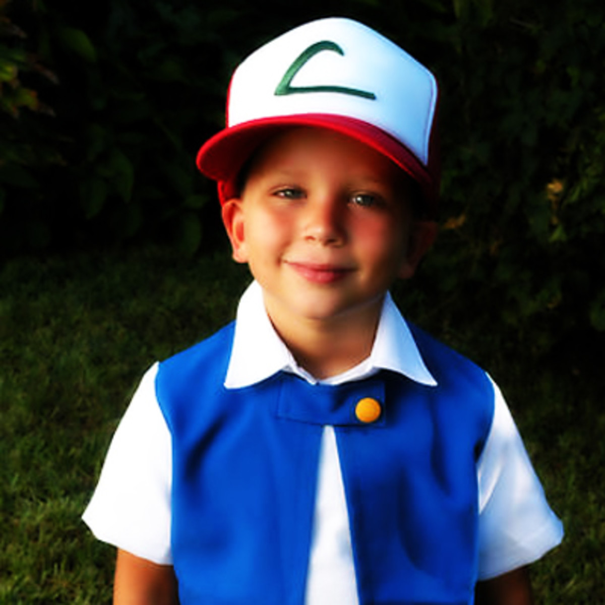 An Ash Ketchum costume involves some simple, colorful clothes and a hat. You might accessorize it with a Poké Ball.