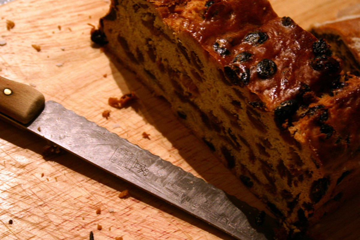 Once baked and sufficiently aged, the cakes are usually sliced into thinner sections before being served.