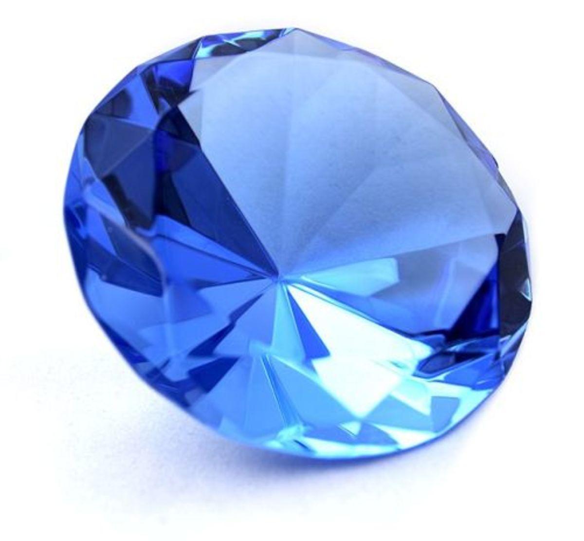 This is a gem-cut sapphire.