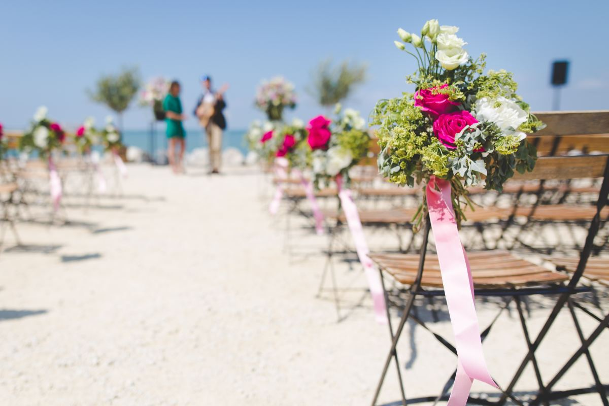 Did you guys meet at the beach? Why not hold your wedding on one?