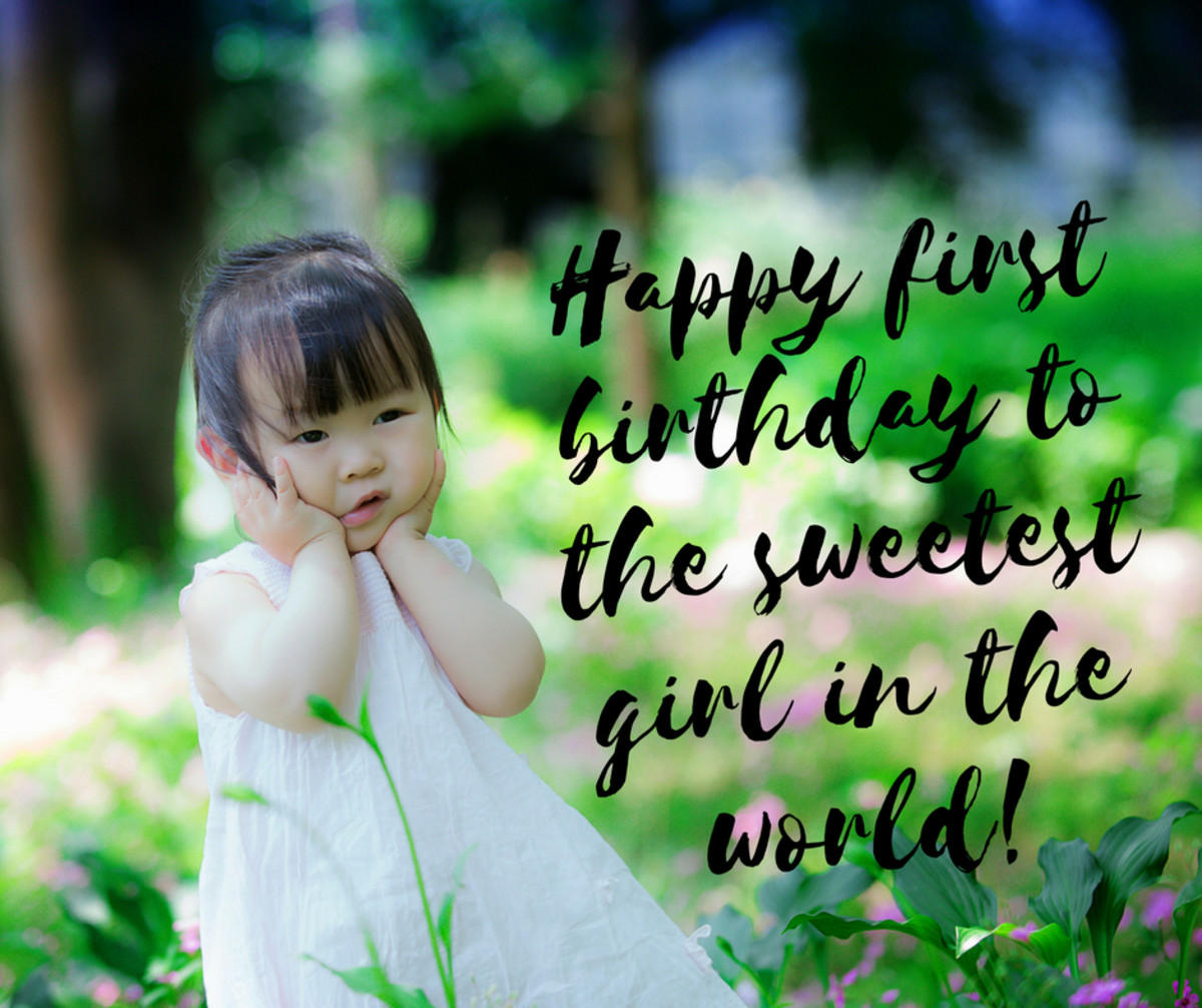 Birthday Messages For A One Year Old Girl