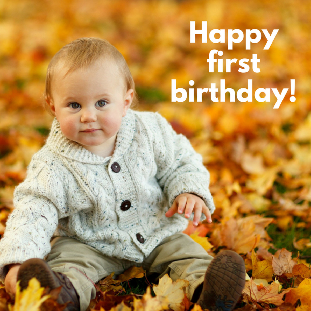 You are the reason your parents are smiling today. Happy first birthday!