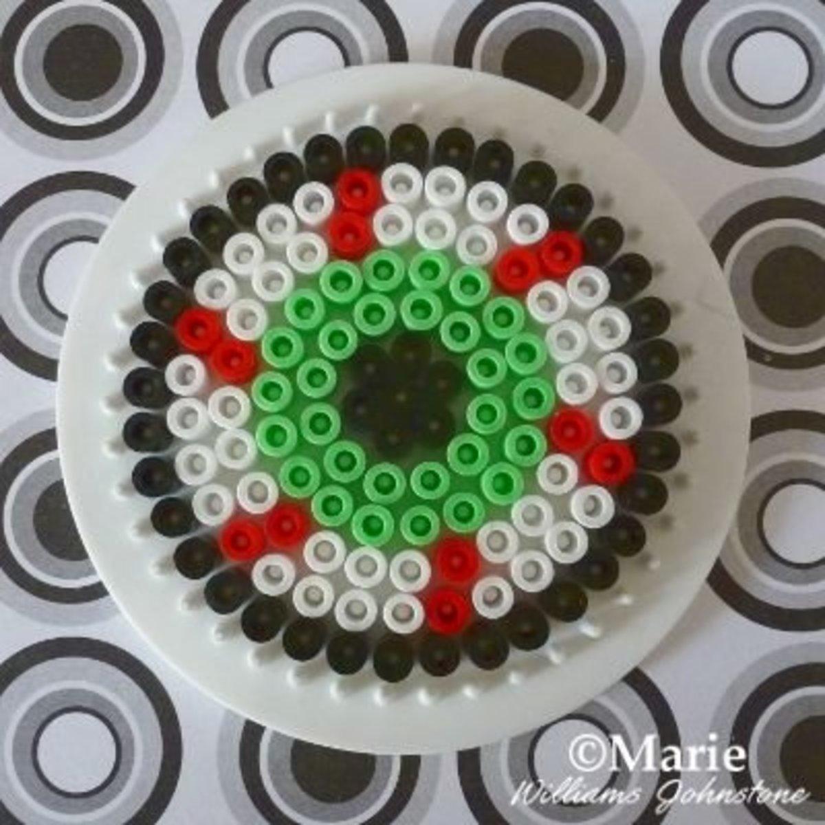 Bloodshot Eyeball Design for Perler Beads
