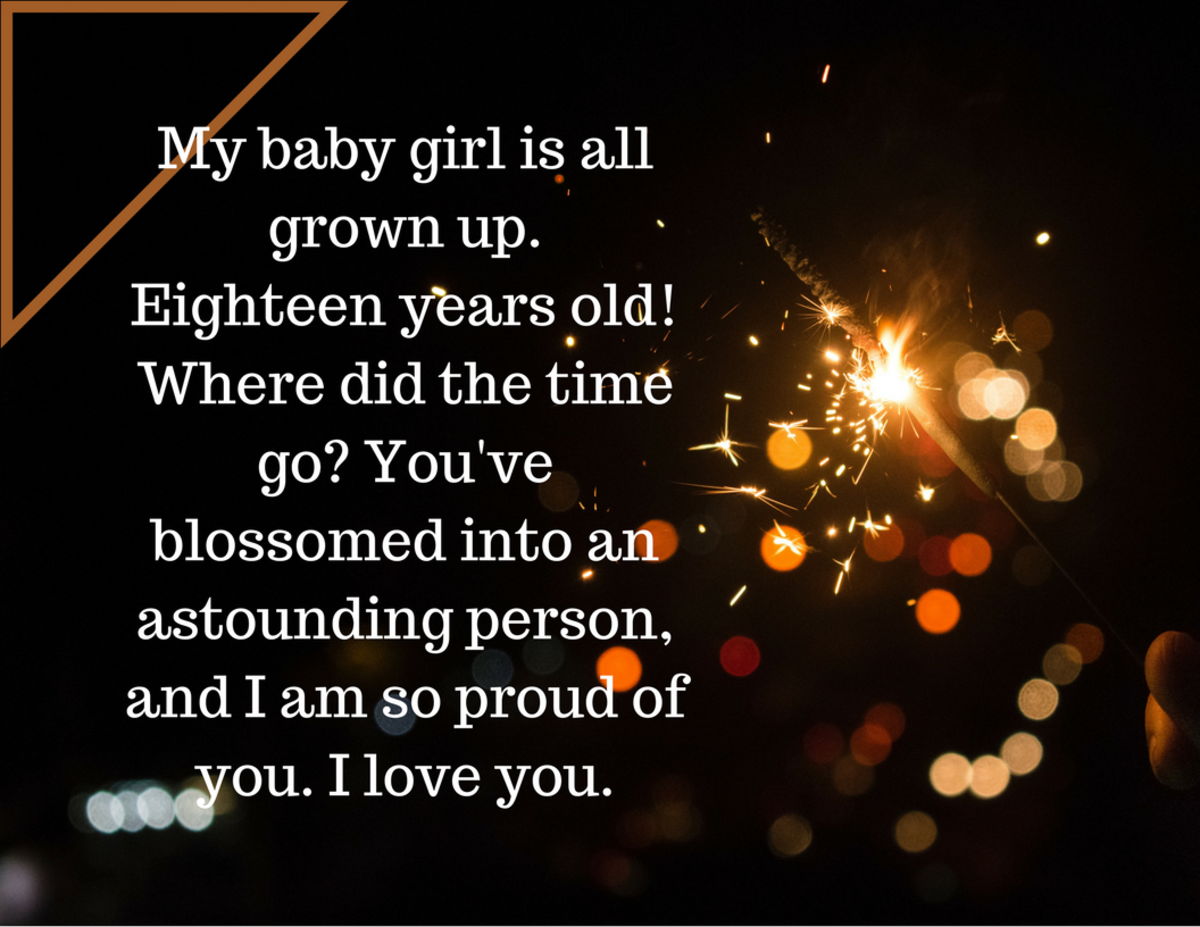 Birthday wishes for your 18-year-old daughter.