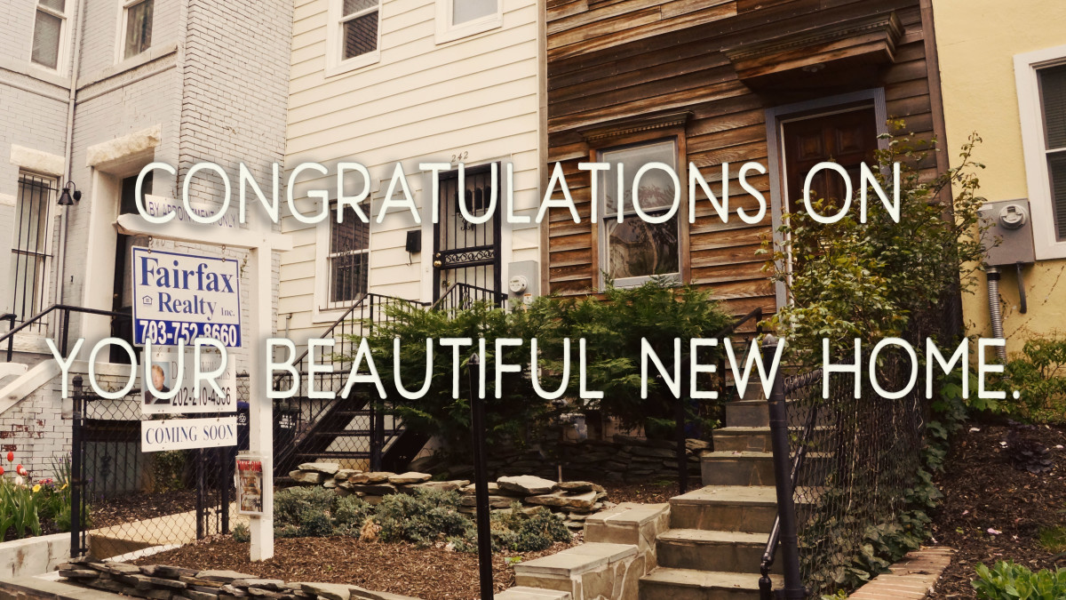A short message perfect for SMS: Congratulations on your beautiful new home.