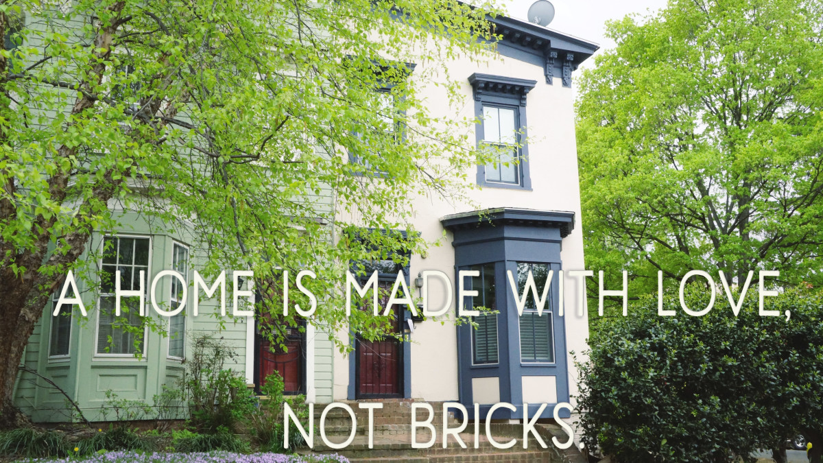 Poems for a card: A home is made with love, not bricks.