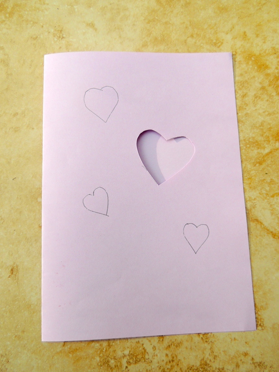 1. Cut out the heart shapes