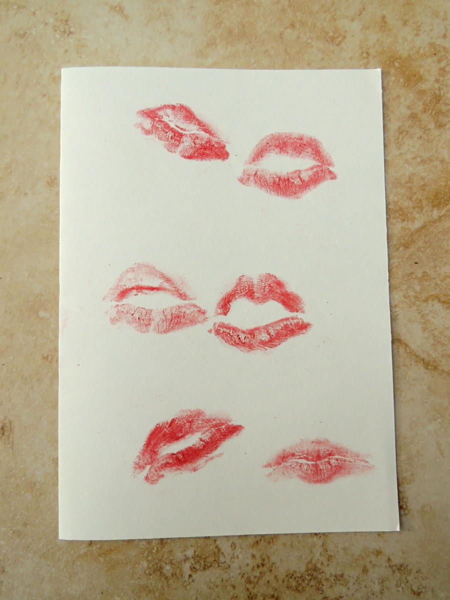 2) Kiss the card!