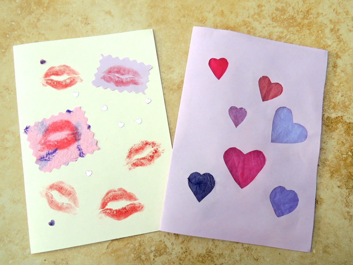 Handmade Valentine's cards show you care!