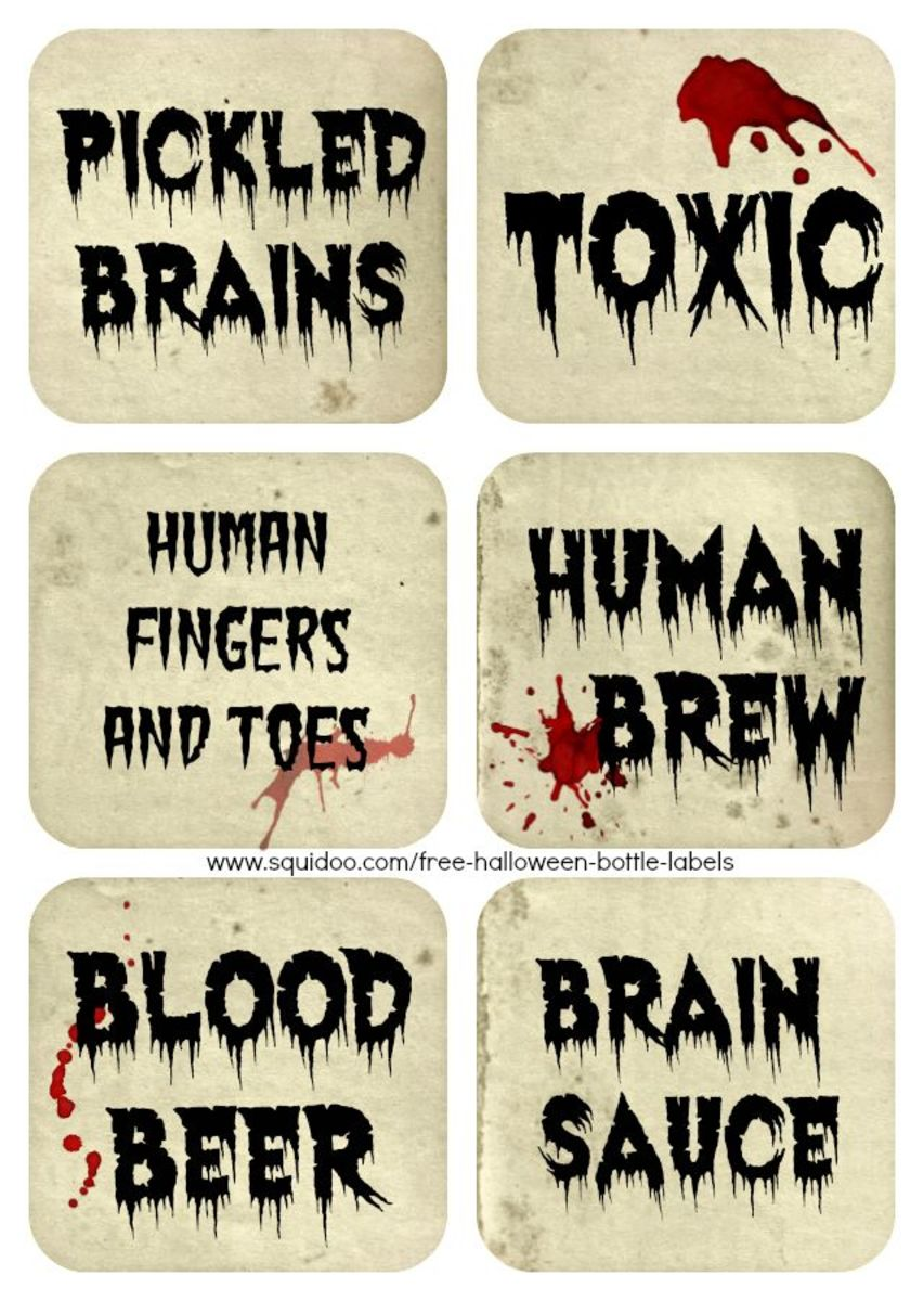 Brand-new Free Printable Halloween Bottle Labels & Potion Labels | Holidappy HA74