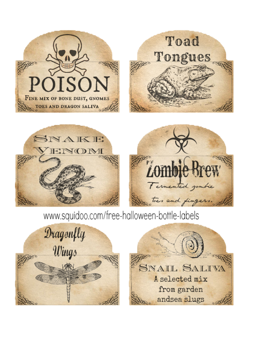photograph relating to Free Printable Vintage Apothecary Labels identify Cost-free Printable Halloween Bottle Labels and Potion Labels