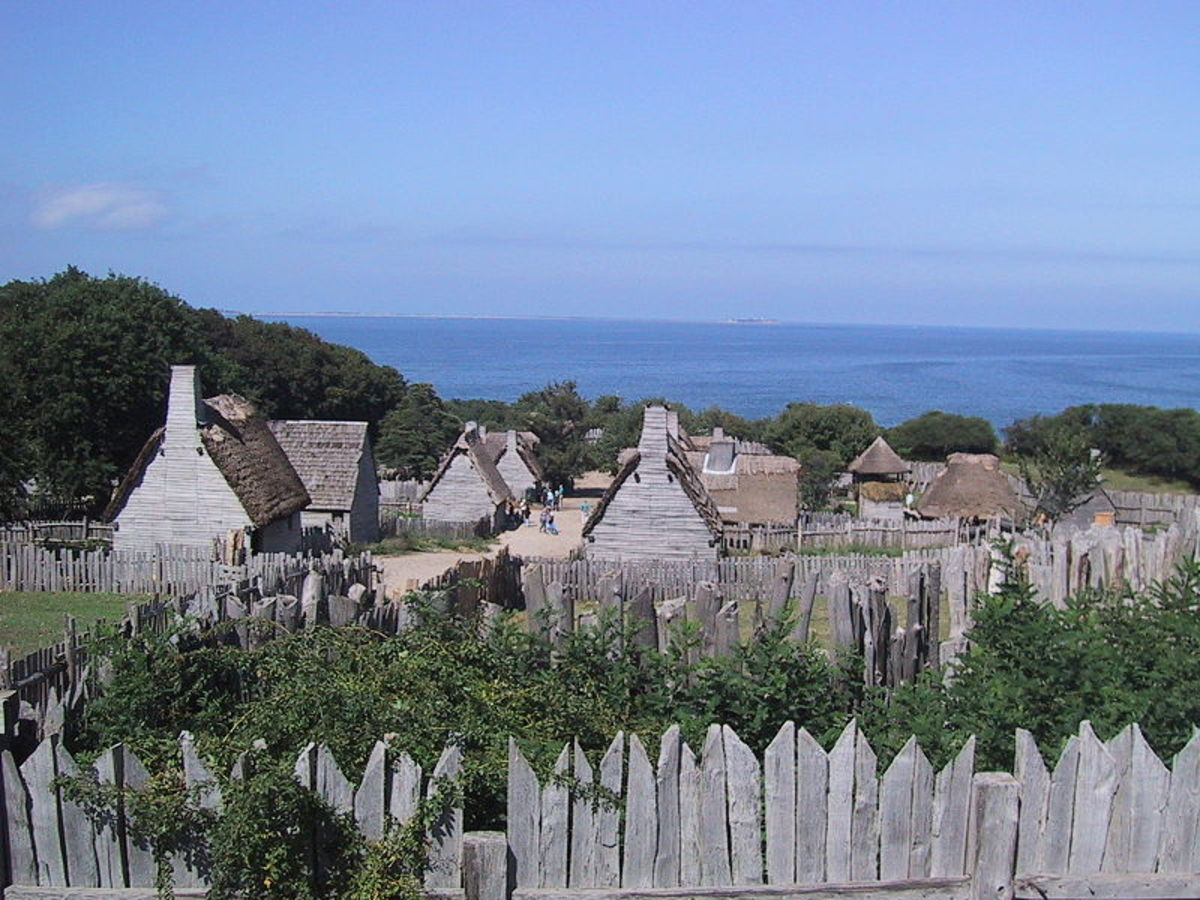 Recreation of years 1621 - 1627 at Plimoth Plantation, Massachusetts.
