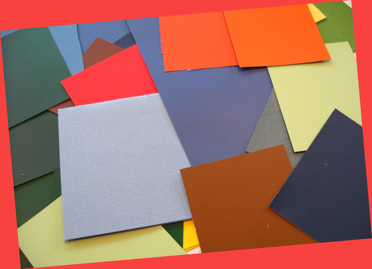 Use colorful paper to mat your painting. Keep a wide range of possible colors on-hand to choose from.