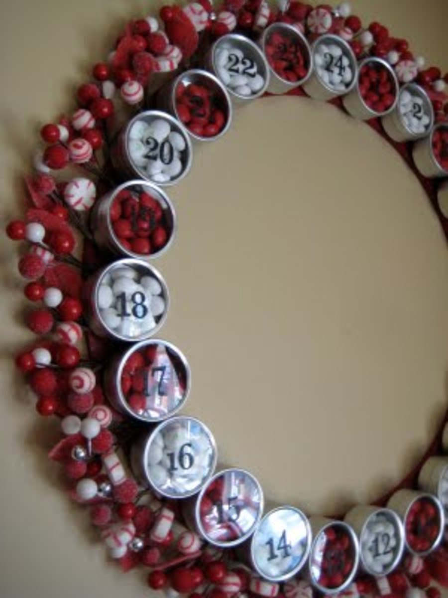 Make Your Own Advent Calendar Wreath