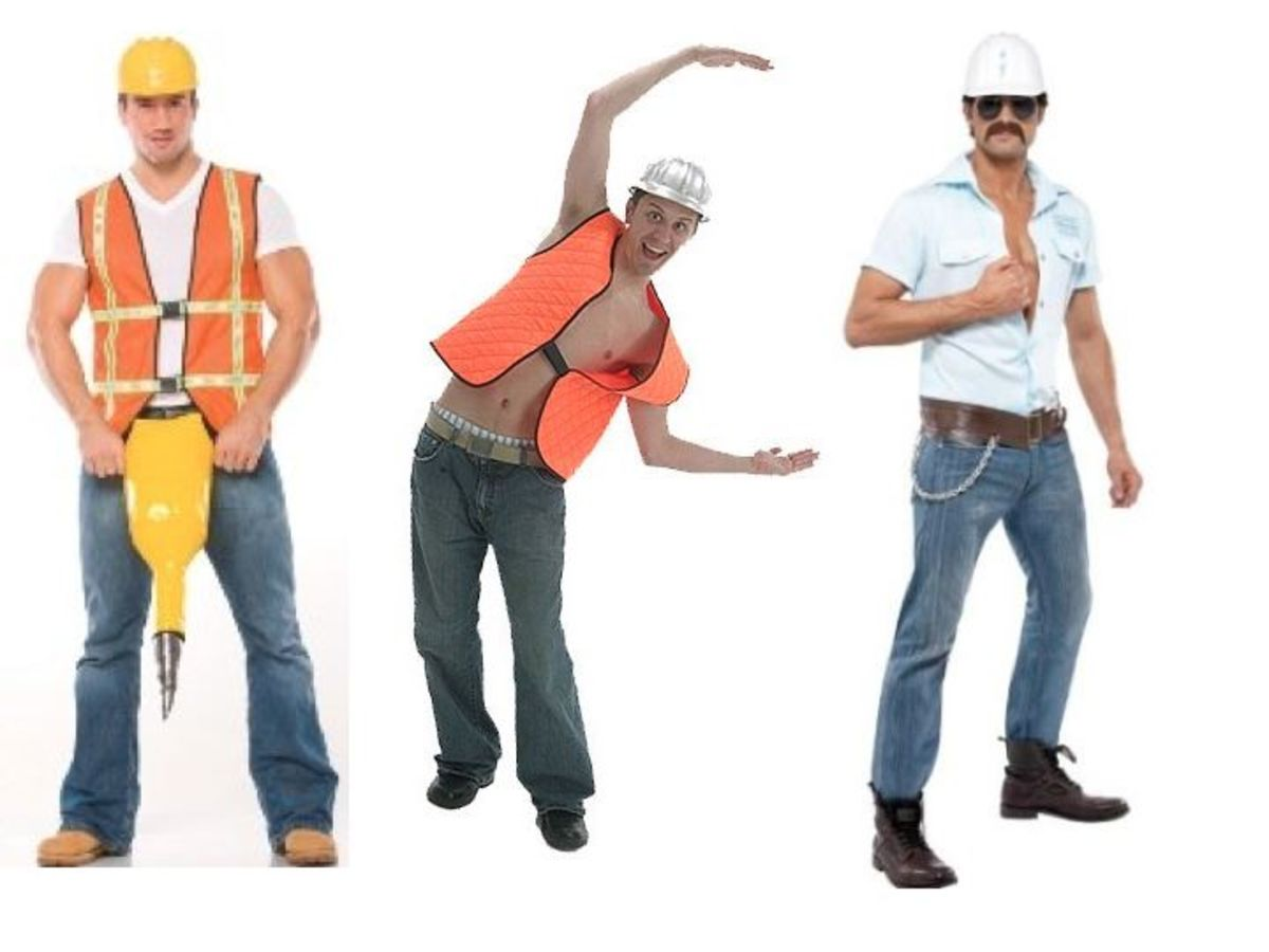 Men Construction Worker Halloween Costume