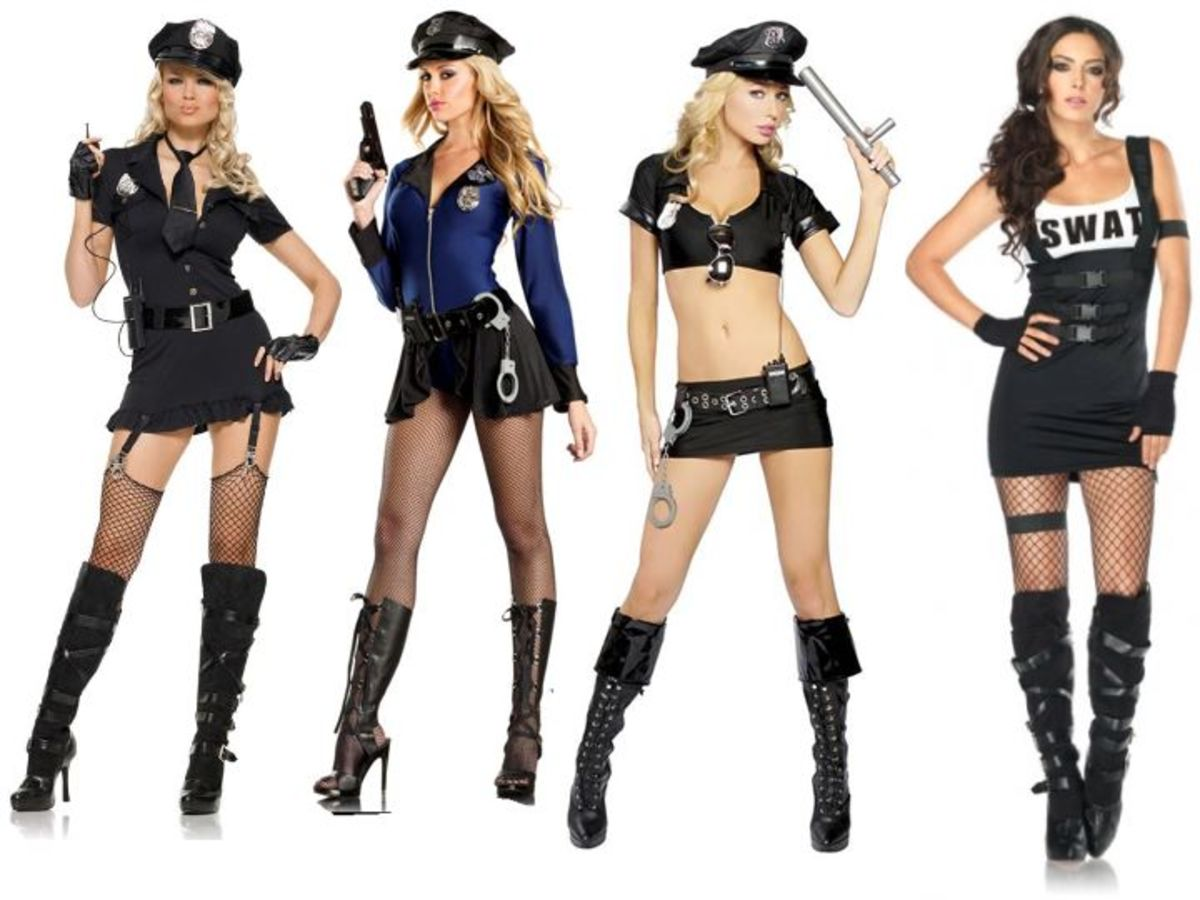 Women Police Uniform Halloween Costume
